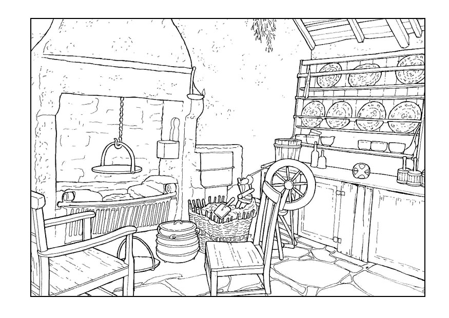 room coloring pages - photo#11