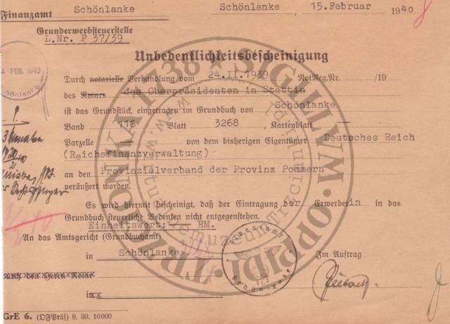 Dokument  z Urzędu Skarbowego