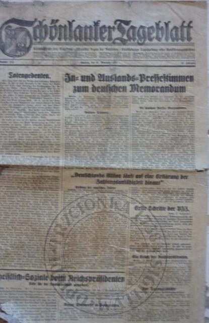 Gazeta 22.11.1931r.